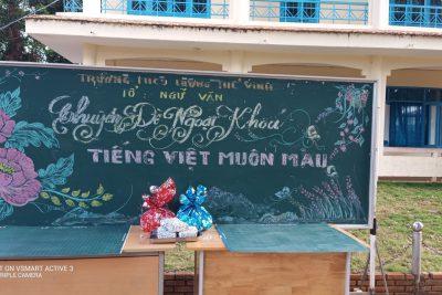 """Tổ Ngữ văn tổ chức chuyên đề Ngoại khoá """"Tiếng Việt Muôn Màu"""""""