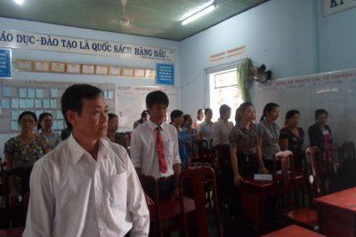 Chi bộ trường THCS Lương Thế Vinh tổ chức kết nạp đảng viên mới