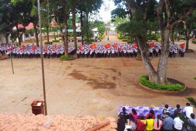 Hình ảnh Thi nghi thức đội cấp trường. Năm học 2014 – 2015