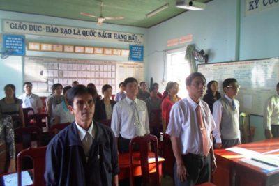 Lễ kết nạp Đảng viên mới Trường THCS Lương Thế Vinh