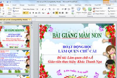 Giáo trình, tài liệu hướng dẫn tạo bài trình chiếu PowerPoint