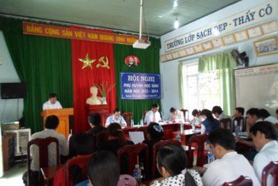 THCS Lương Thế Vinh Tổ chức Hội Nghị Phụ huynh học sinh năm học 2013 – 2014