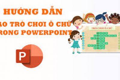Hướng dẫn tạo trò chơi ô chữ bí mật trên PowerPoint