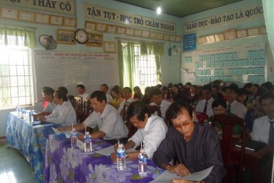 Trường THCS Lương Thế Vinh tổ chức hội nghị cán bộ công chức viên chức năm học 2015 – 2016